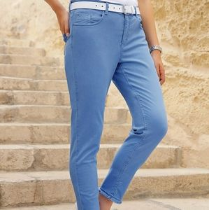 Levis Rolled Cuff Mid Rise Skinny Jeans Crop Ankle